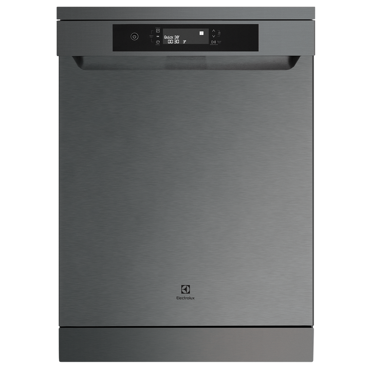 ESF6767KXA - Dishwasher In Dark Stainless Steel With Finger Print Resistant Finish. 10 Flexible Wash Programs, An Added Cutlery Rack, Convenient Delay Start And Fan Drying To Ensure You Always Have A Worry Free Wash And Dry.