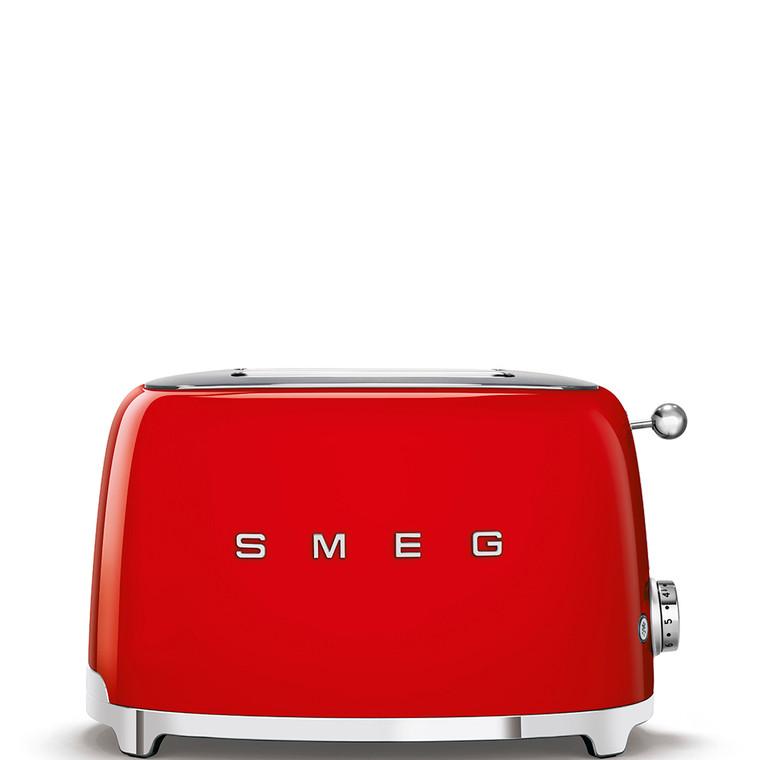 TSF01RDAU - 2 Slice Toaster, 50's Retro Style Aesthetic, RED