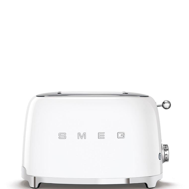 TSF01WHAU - 2 Slice Toaster, 50's Retro Style Aesthetic, WHITE