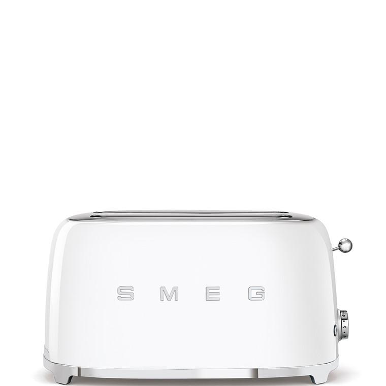 TSF02WHAU - Long Slot Toaster, 50'S Retro Style Aesthetic, WHITE