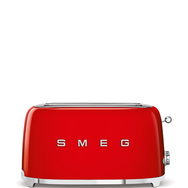 TSF02RDAU - Long Slot Toaster, 50'S Retro Style Aesthetic, RED