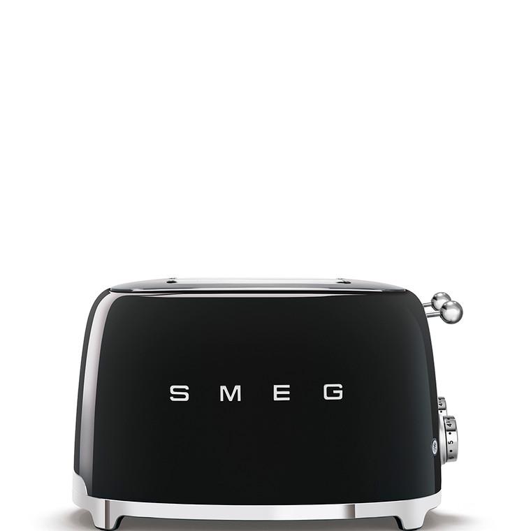 TSF03BLAU - 4 Slot Toaster, 50'S Retro Style Aesthetic, BLACK