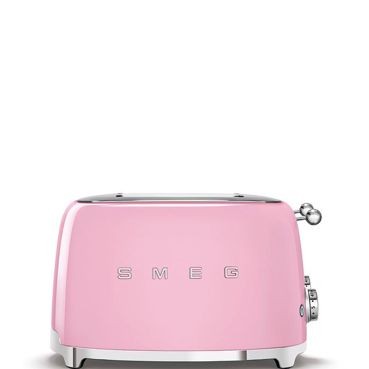 TSF03PKAU - 4 Slot Toaster, 50'S Retro Style Aesthetic, PASTEL PINK
