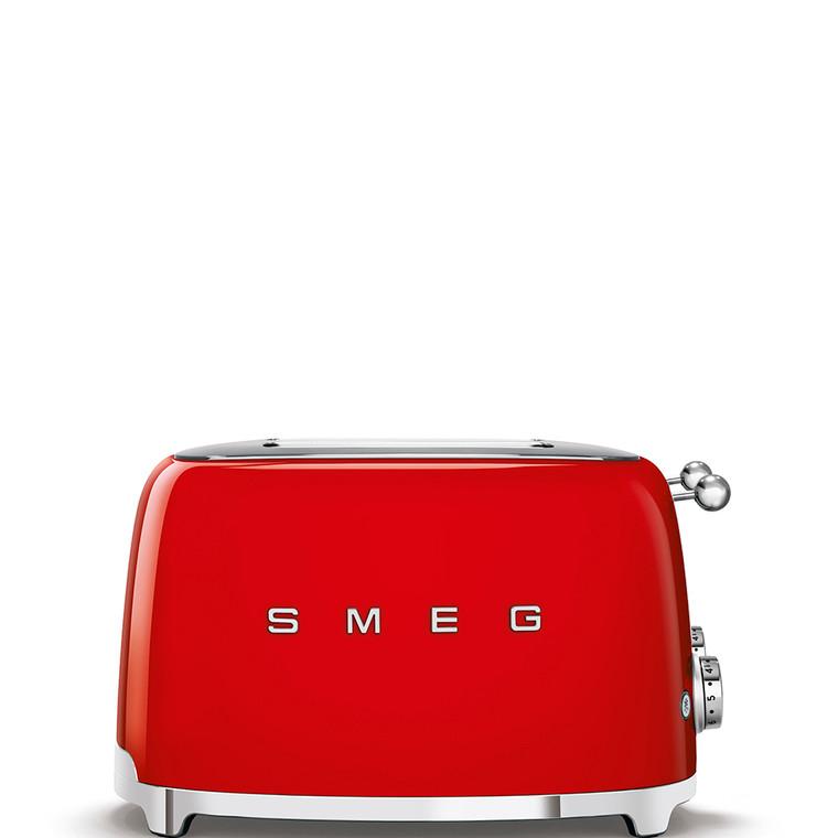 TSF03RDAU - 4 Slot Toaster, 50'S Retro Style Aesthetic, RED
