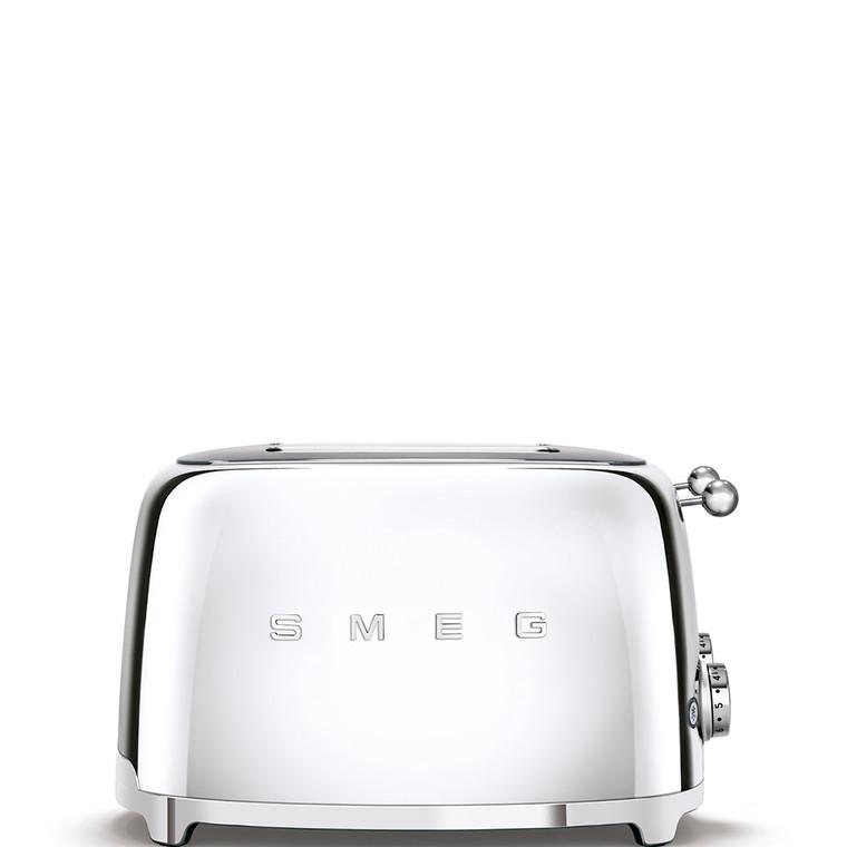 TSF03SSAU - 4 Slot Toaster, 50'S Retro Style Aesthetic, CHROME