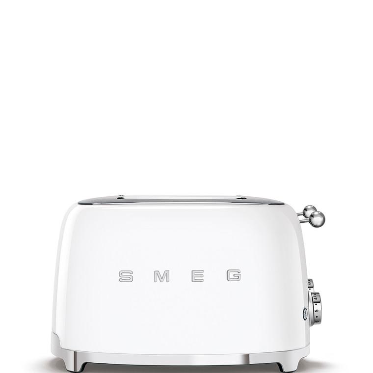 TSF03WHAU - 4 Slot Toaster, 50'S Retro Style Aesthetic, WHITE
