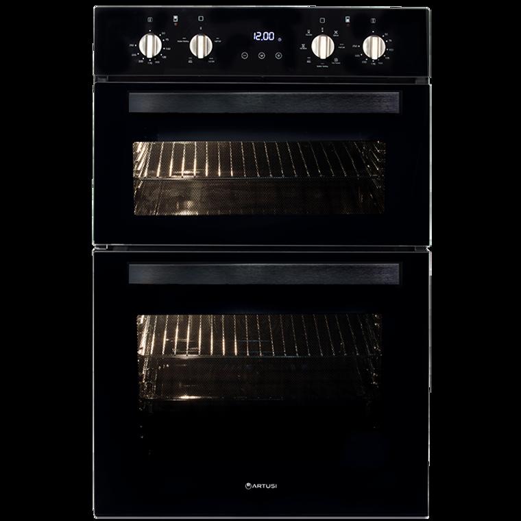 CAO888B - 60cm Built-In Multi Double Oven - Black