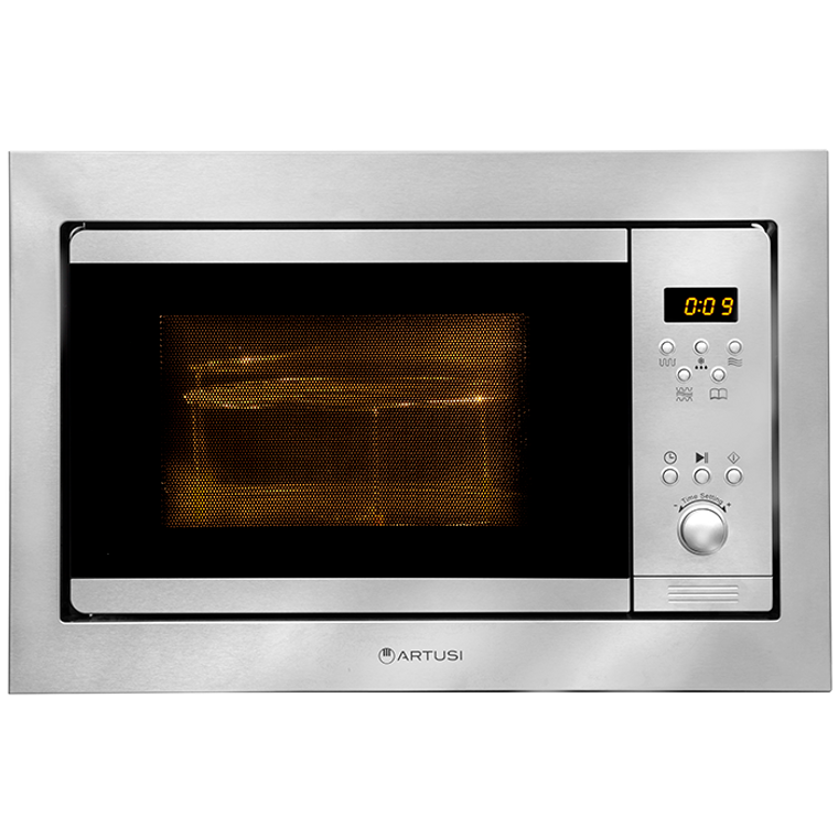 AMO25TK - 60cm Built-In 25L Microwave Oven With Grill + Trim Kit - Stainless Steel