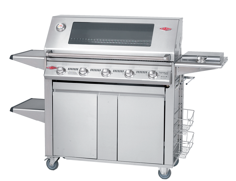 BS19650 - Signature 3000 Series 5 Burner Mobile BBQ with Window Hood - Stainless Steel