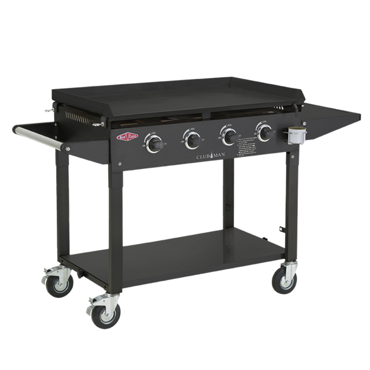 BD16640 - Discovery Clubman 4 Burner Mobile BBQ with Weatherproof Lid - Black