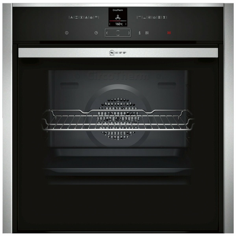 B57CR22N0B - 60cm Multifunction Slide&Hide Oven with Pyrolytic Cleaning - Stainless Steel