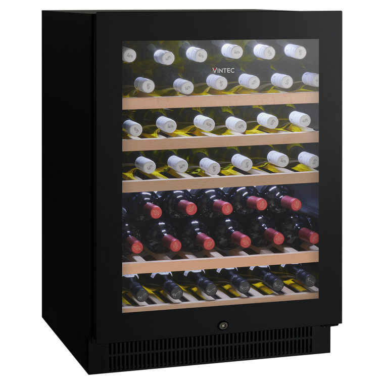 VWS050SBB-X - 50 Bottle Single Zone Cellaring or Serving Wine Cabinet - Black