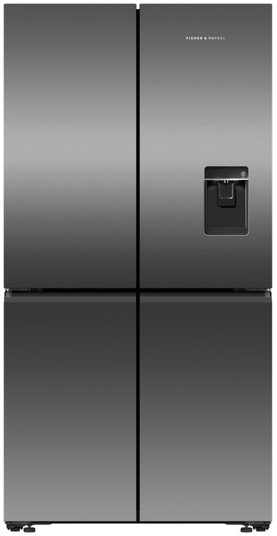 RF605QNUVB1 - 605L Quad Door French Door Refrigerator with Ice and Water - Dark Steel