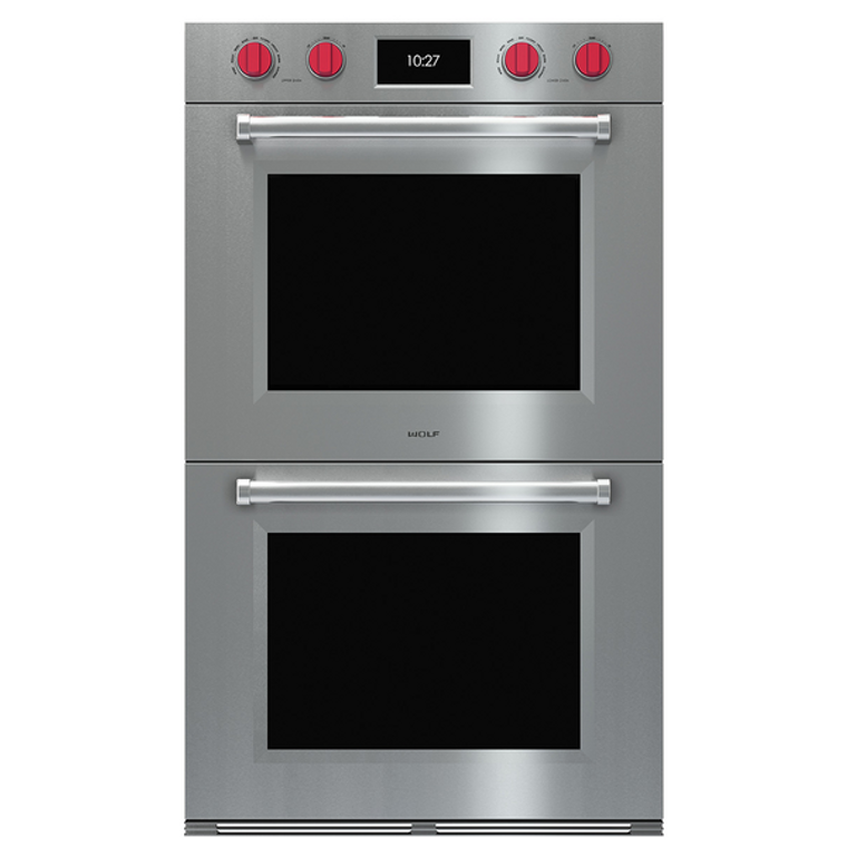 ICBDO30PMSPH - 76cm Professional M Series Double Multifunction Pyrolytic Oven - Stainless Steel (Avail with Different Colour Knobs)
