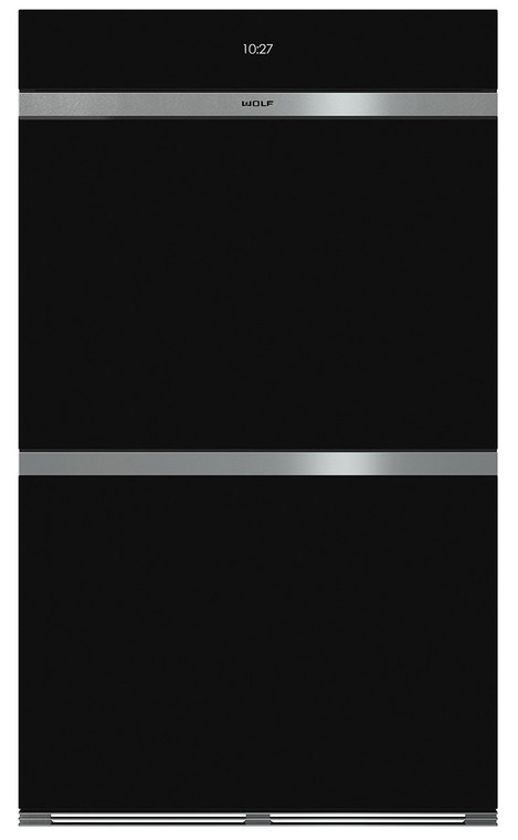 ICBDO30CMB - 76cm Contemporary M Series Double Multifunction Pyrolytic Oven, Handless - Black
