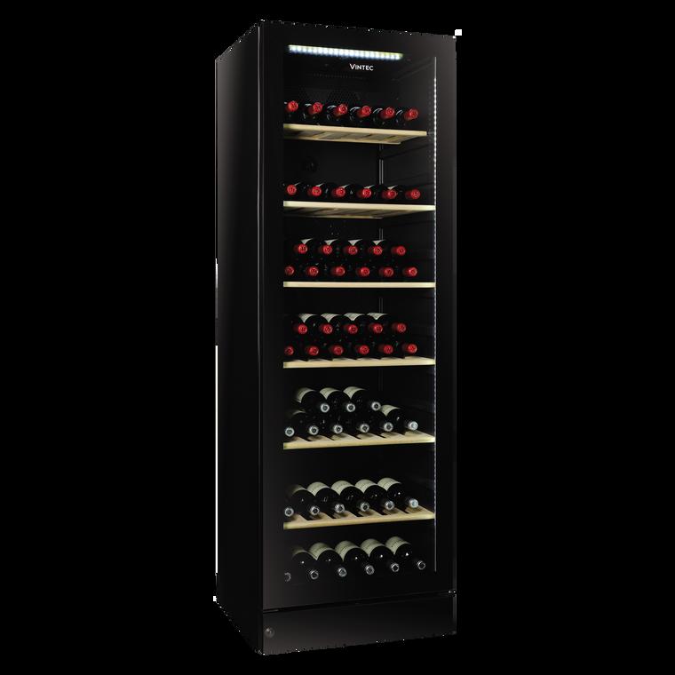 V190SG2E-BK - 198 Bottle Wine Cellar, Right Hinge - Black