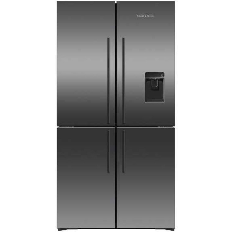 RF605QDUVB2 - 605L Quad Door French Door Fridge With Ice & Water - Black Brushed Stainless Steel