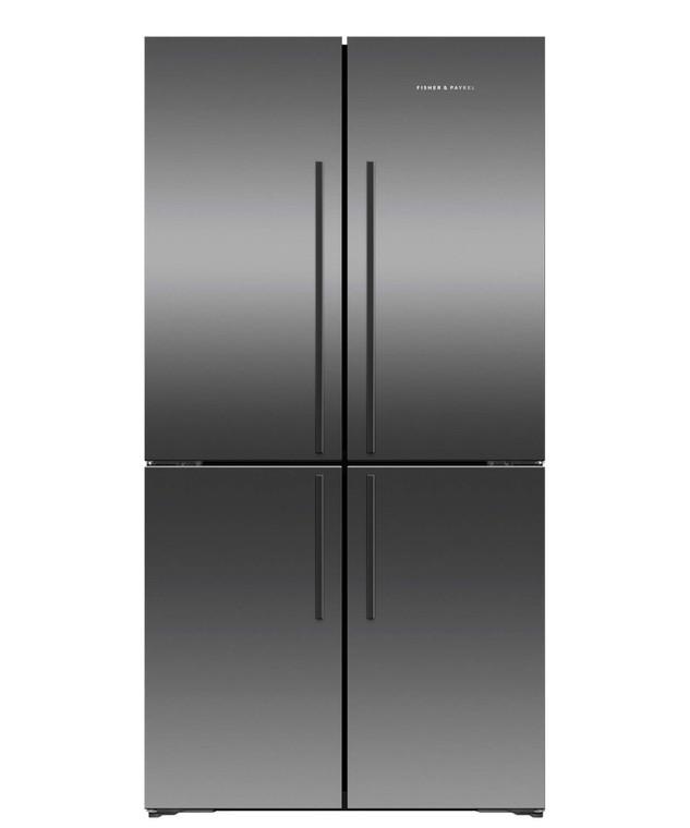 RF605QDVB2 - 605L Quad Door French Door Fridge - Black Brushed Stainless Steel