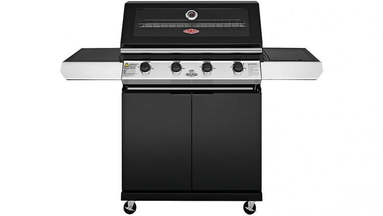 BMG1241BB - 1200 Series 4 Burner BBQ with Side Wok Burner - Black