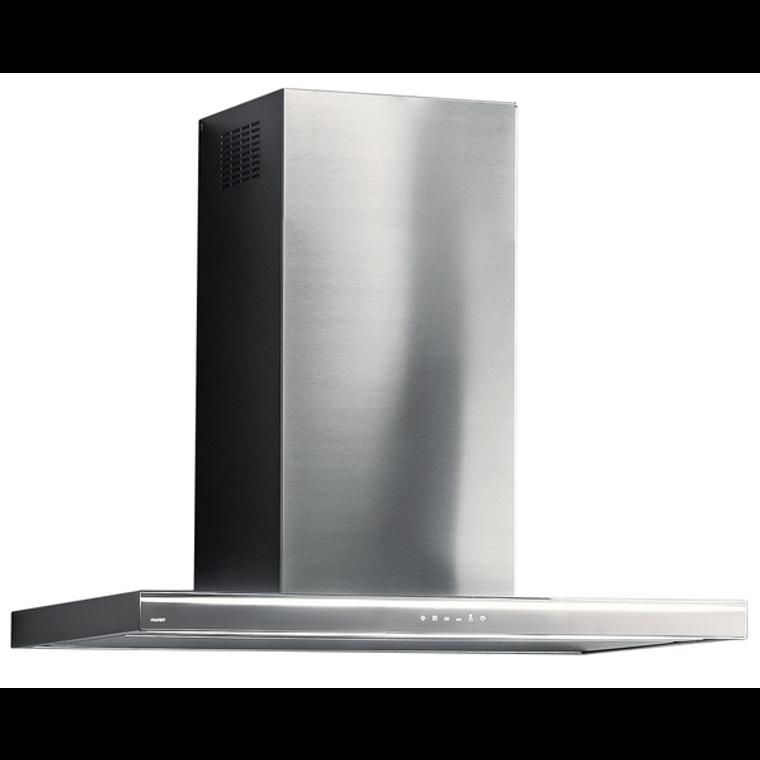 F5LA90W1 - 90cm Lumina NRS Wall Canopy Rangehood - Stainless Steel / White Glass