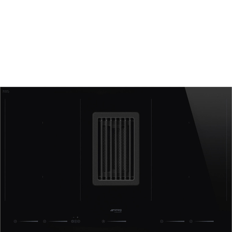 HOBD682D - 80cm Linea 4 Zone Induction Ceramic Cooktop with Integrated Downdraft Extractor - Black