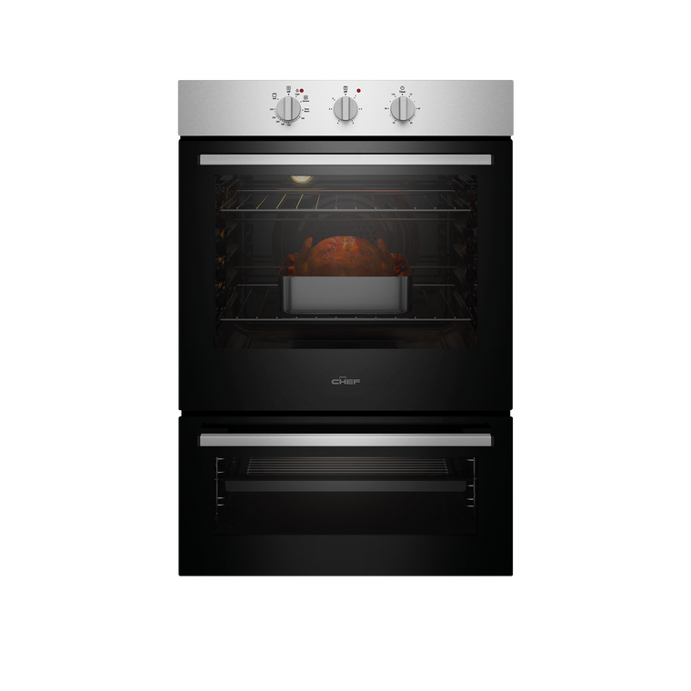 CVE662SB - 60cm Multifunction Oven With Separate Grill - Stainless Steel