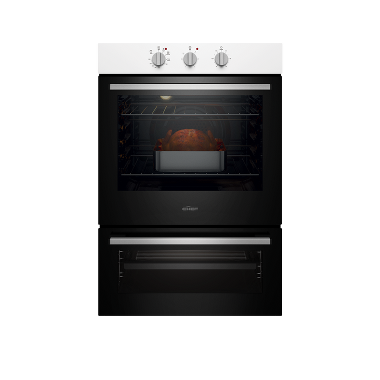 CVE662WB - 60cm Multifunction Oven With Separate Grill - White