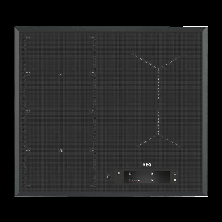 IAE64851FB  - 60cm SenseFry 4 Zone Induction Cooktop with FlexBridge - Black Ceramic Glass