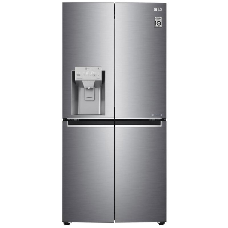 GF-L570PL - 570L Slim French Door Fridge with Ice & Water - Stainless Steel
