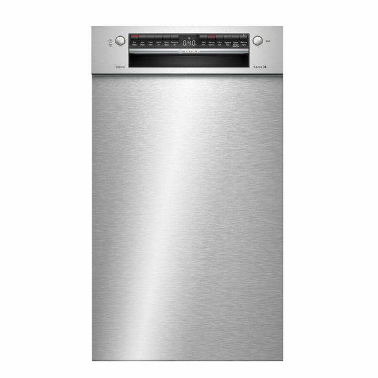 SPU6IMS01A - 45cm Series 6 Slimline Built-Under Dishwasher - Silver
