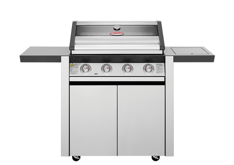 BMG1641SA - Discovery 1600 Series 4 Burner BBQ & Trolley with Side Burner & Grills - Stainless Steel