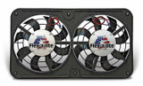 Dual 12in Lo Profile Puller Fans w/Controls