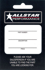 Allstar Hang Tag 100 Pack