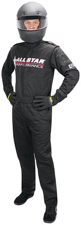 Allstar Race Suit Black XL Short 1pc 2 Layer