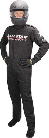 Allstar Race Suit Black Med 1pc 2 Layer