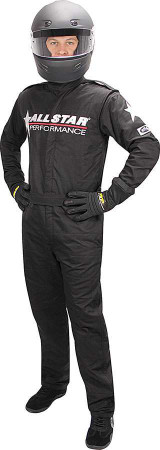 Allstar Race Suit Black Lg 1pc 2 Layer