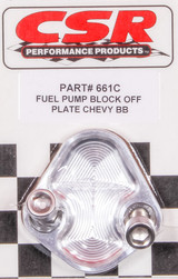 BBC F/P Block-Off Plate - Clear