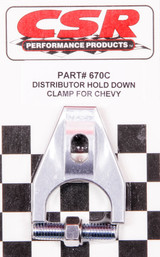 Chevy Distributor Hold Down Clamp - Clear