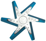 17in Blue Anodized Fan
