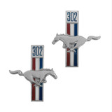 302 Running Horse Fender Emblems w/Adhesive Back