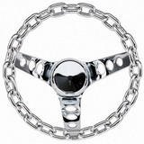 10in Chrome Chain Wheel