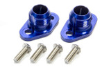 SBC #16 Water Pump Port Adapters - Blue (2pk)