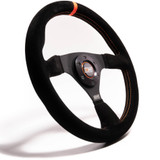 11.75 in Wheel Black Suede 6-Bolt Aluminum