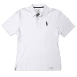 Short Sleeves Polo Driver Icon White L