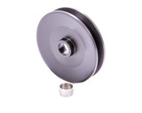 4in Dia Deep V-Belt Alt Pulley Billet Aluminum