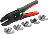 Ratcheting Wire Crimper with Dies