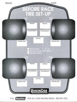 Before Race Tire Set-Up Forms (50 PK)