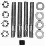 Carb Adapter Hardware K it 3In Stud 5/16In Tread