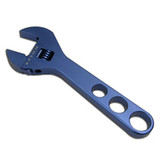 8In Adjustable Aluminum Wrench Blue