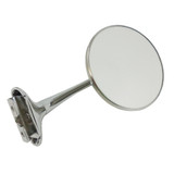 SS 4In Chrome Old Style Door Edge Mirror